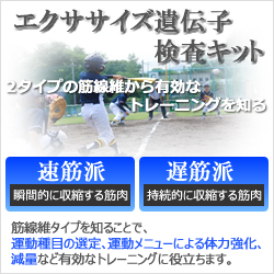 DNA EXERCISE遺伝子分析キット