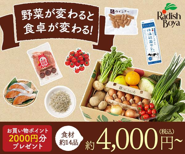 野菜宅配サービス申込【らでぃっしゅぼーや】