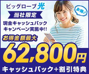 無線LANルーター&20,000円CBorタブレットから選べる【ビッグローブ光】