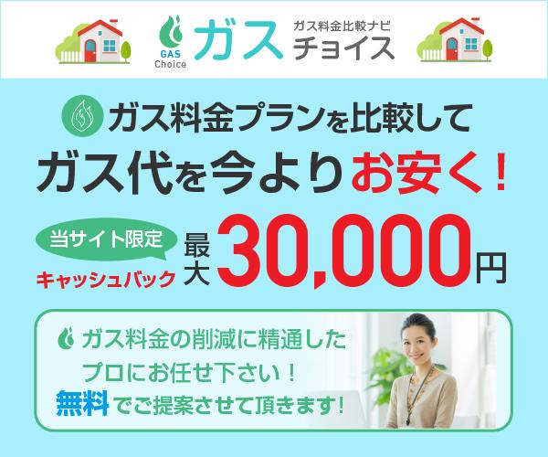 ガス代を今よりお安く!最大30,000円現金キャッシュバック!【ガスチョイス】